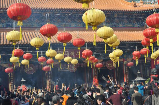 Lunar New Year at Wong Tai Sin temple