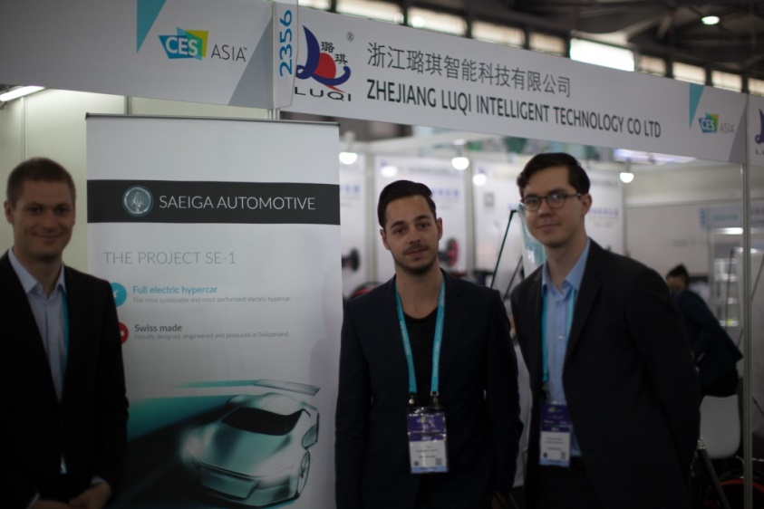 Saeiga Automotive – startup that produces fully electric hypercar and that we showcased on the swissnex China's booth