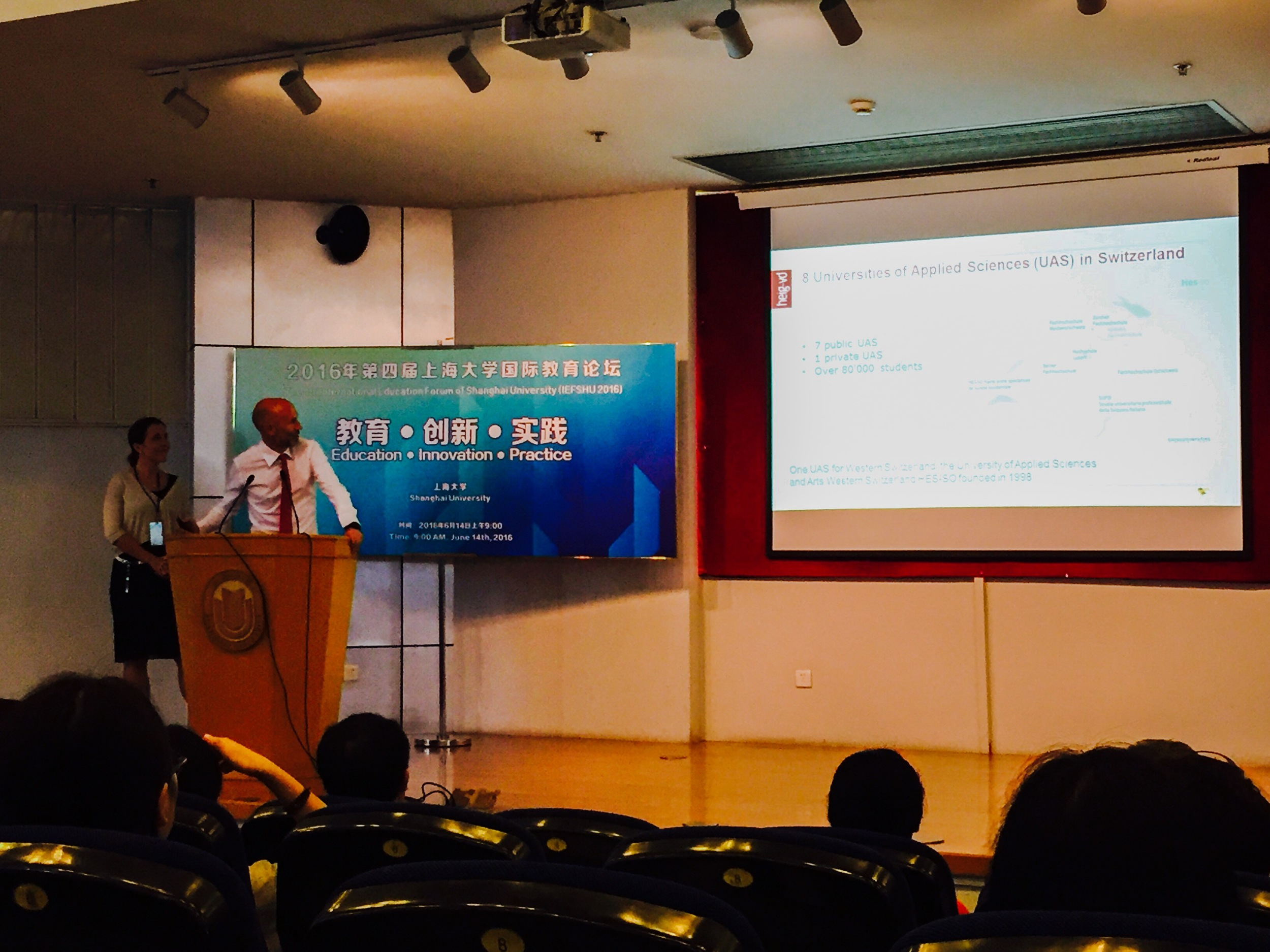 Our CEO Pascal was presenting the Swiss higher education system to Chinese students