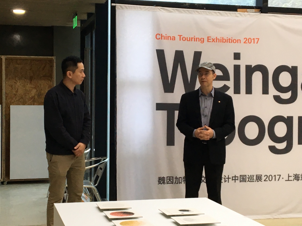 Curator of the Exhibiton-Prof. Du qin and Dr. Felix Moesner, giving the opening speech