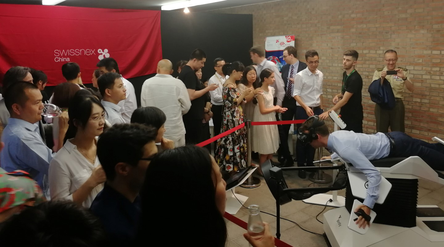 At one point the queue for Birdly® was approx. 8 hours, so popular was the attraction.