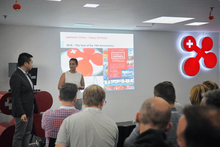 Ms. Rahel Gruber and Mr. Danli Zhou introduced swissnex China to the EMBA students.