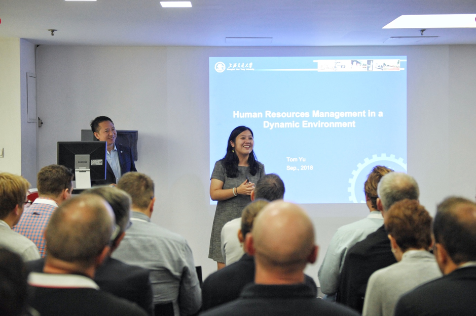 Moderated by Ms. Ying Gu, Mr. Tom Tiecheng Yu gave his presentation on HRM practices in China.