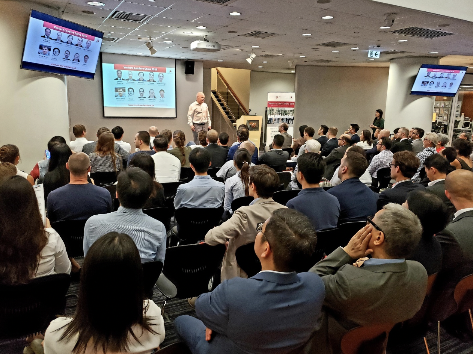 Pitching in Hong Kong in front of an audience of over 100 people