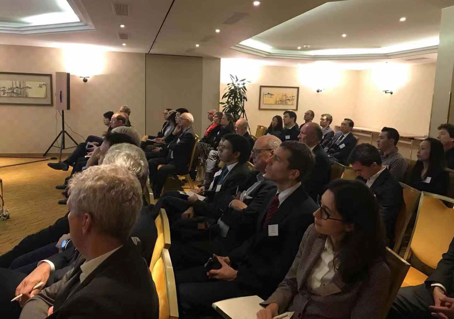 An audience of 50 registered guests attended the talk