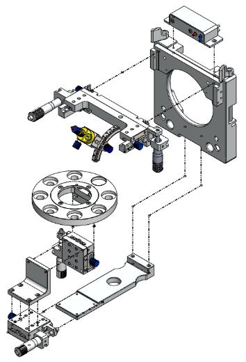 key components of the mass spectrometry iron source  质谱仪器离子源关键部件示意图