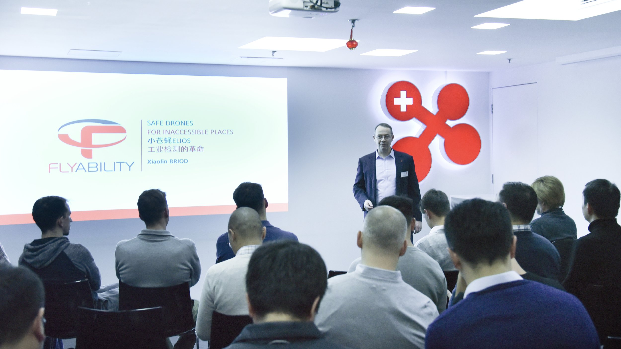 Dr. Felix Moesner, Science Consul & CEO of swissnex China, gave the welcome speech