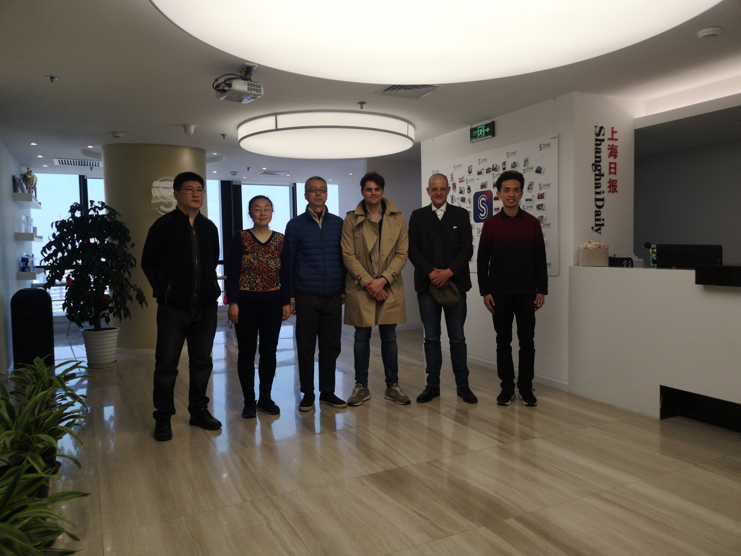 Tamedia delegation with the Shanghai Daily editors.
