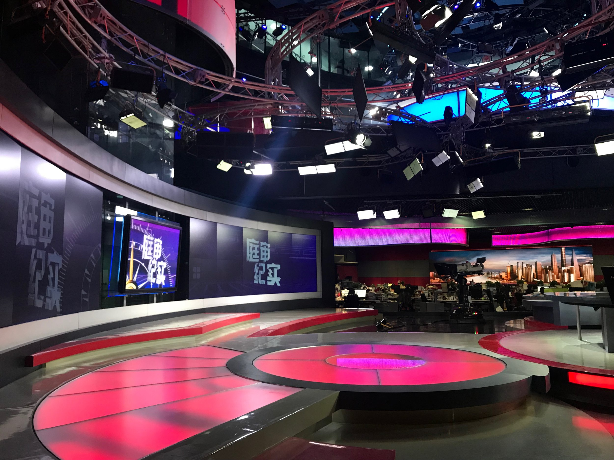 The main television studio of ICS.