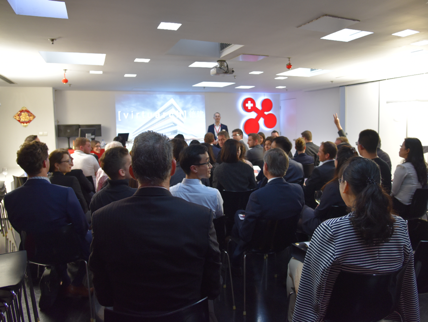Dr. Felix Moesner, Science Consul and CEO of swissnex China, welcoming the guests.