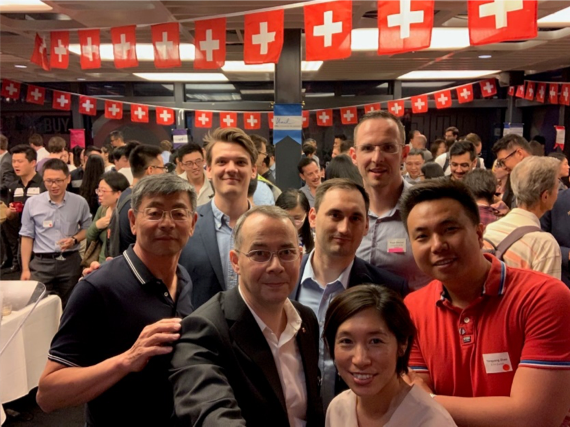 Dr. Felix Moesner, Science Consul & CEO at swissnex China, with the Chapters' representatives.