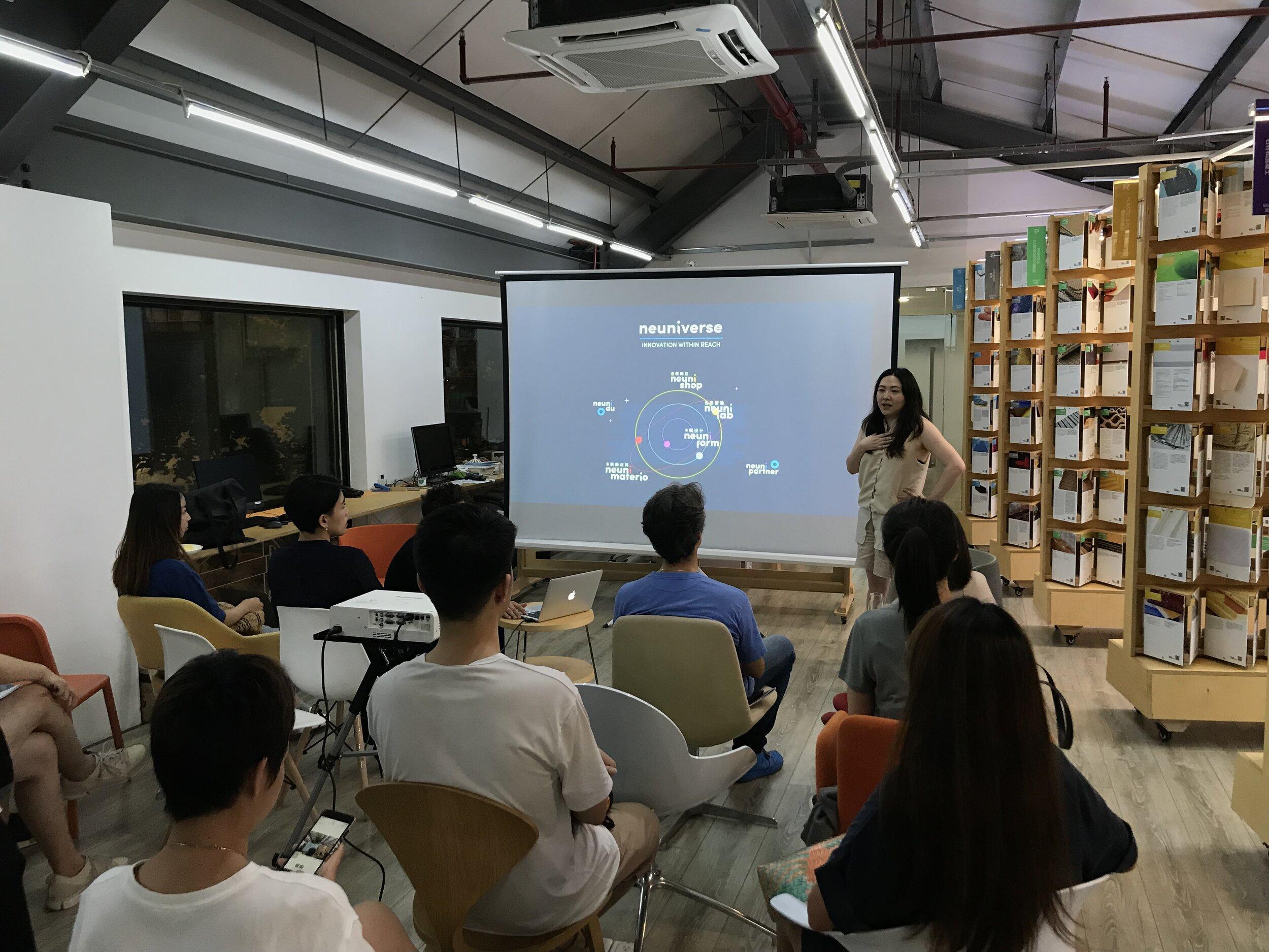 Lyla Wu, CEO at Neuni, giving the opening speech