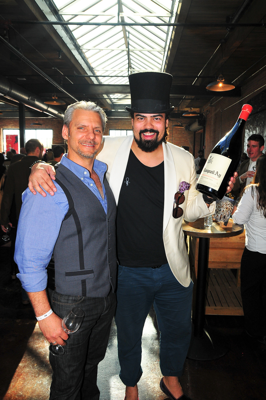Best dressed guy (always) fellow Sommelier Philippe Andre of Mo ë t &Chandon