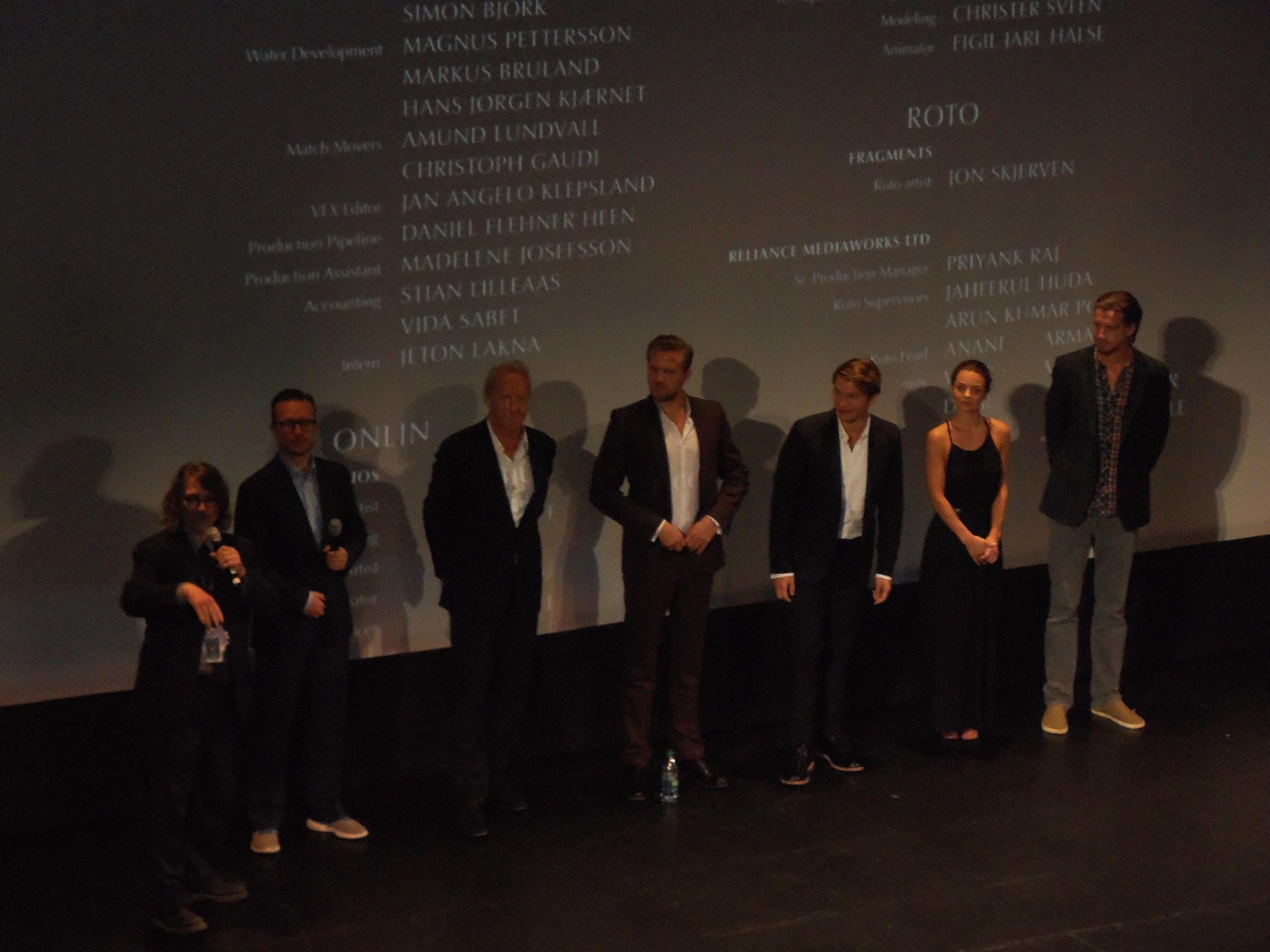"The cast of ""Kon-Tiki"" at the 2012 Toronto International Film Festival"