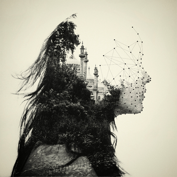 Double Exposure Portraits by Dan Mountford