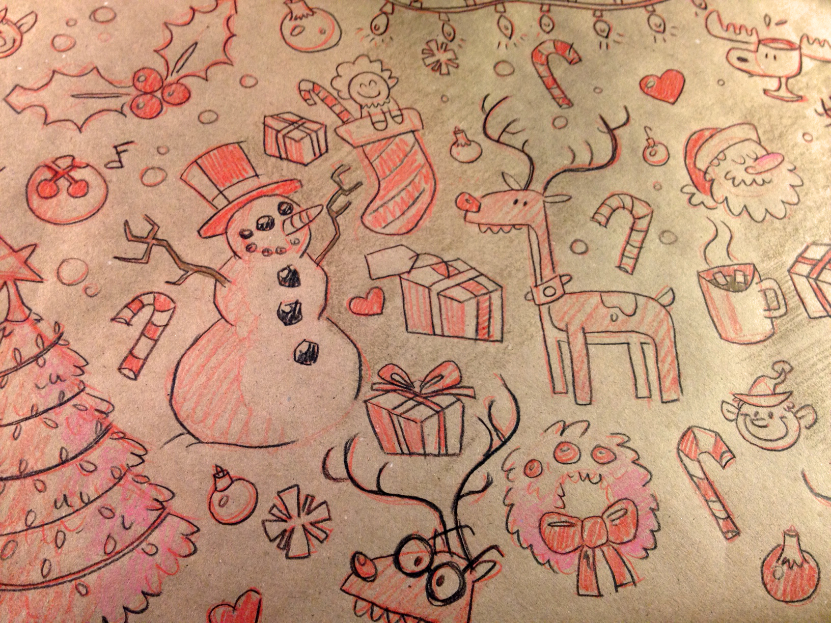 Christmas doodles by Joey Ellis