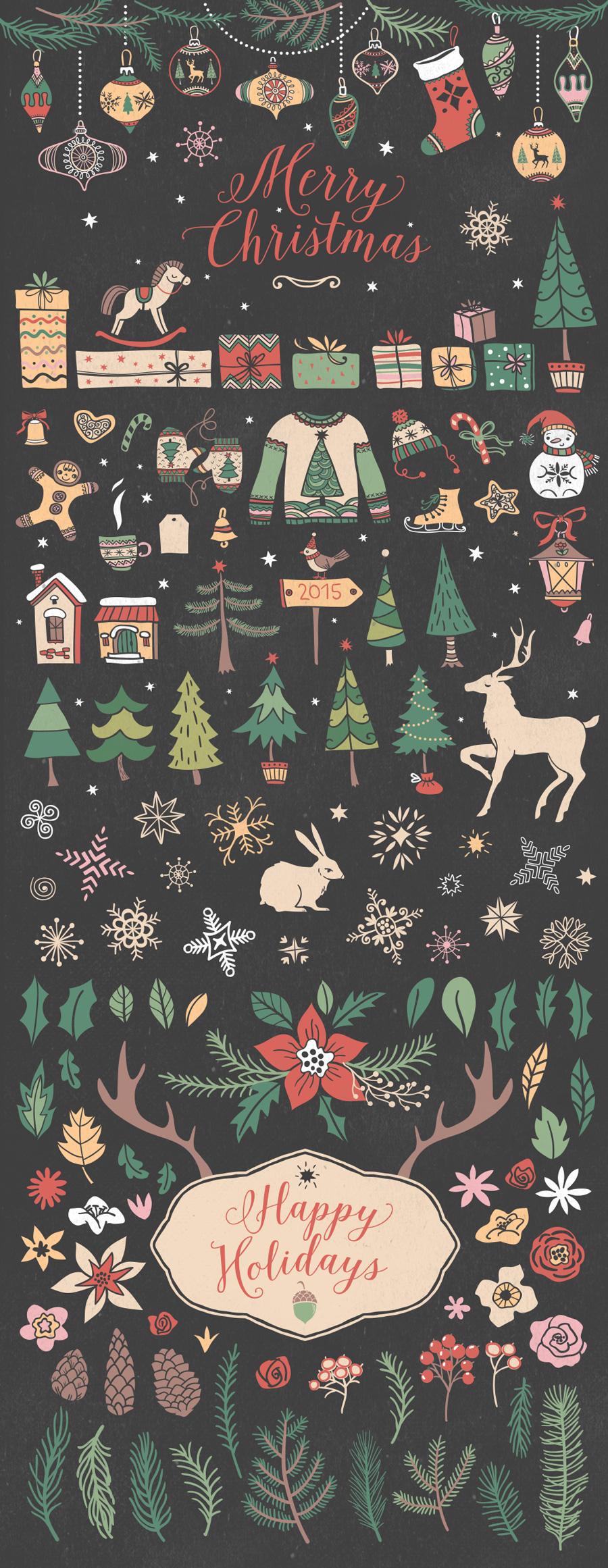 Christmas Vectors ($12)