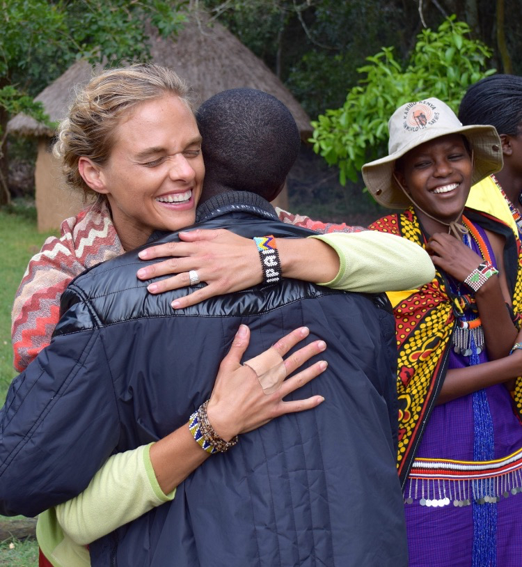 My wife, Stacey Astacianna Hatcher in Kenya, with Maasai friends Ole Nagut and Tumpesia Ann