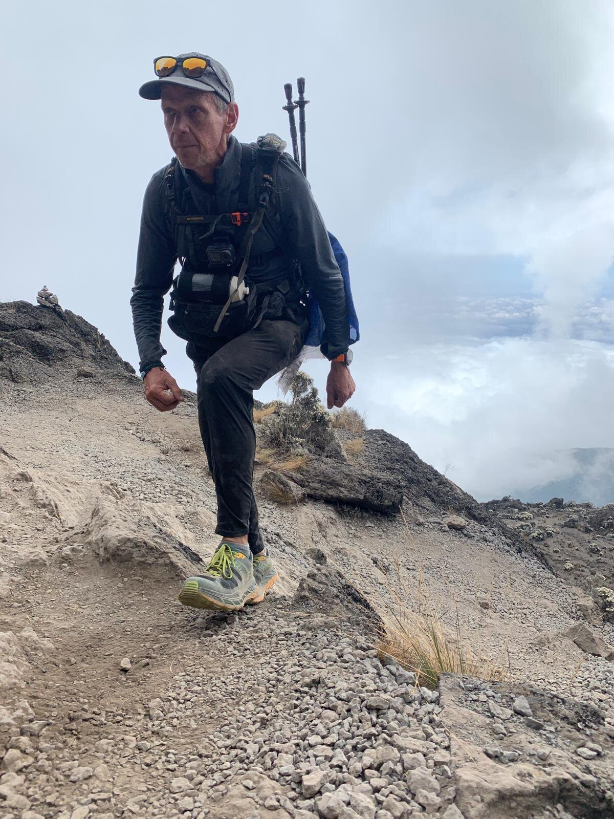 Headed closer and closer to that Kilimanjaro summit — the highest point in Africa!