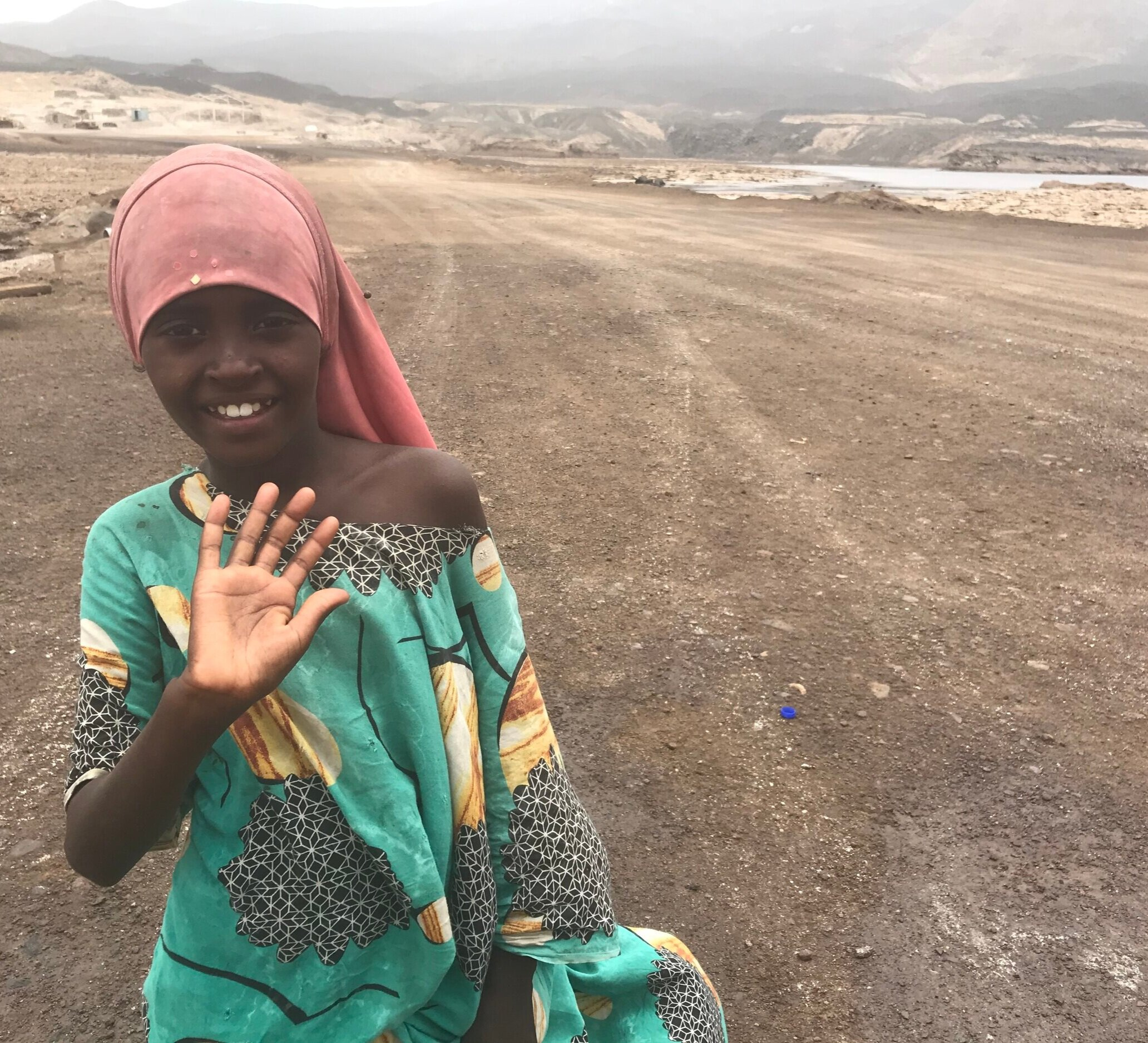 A young friend in Djibouti who ran with me, along with her uncle and brothers.  They offered me water!