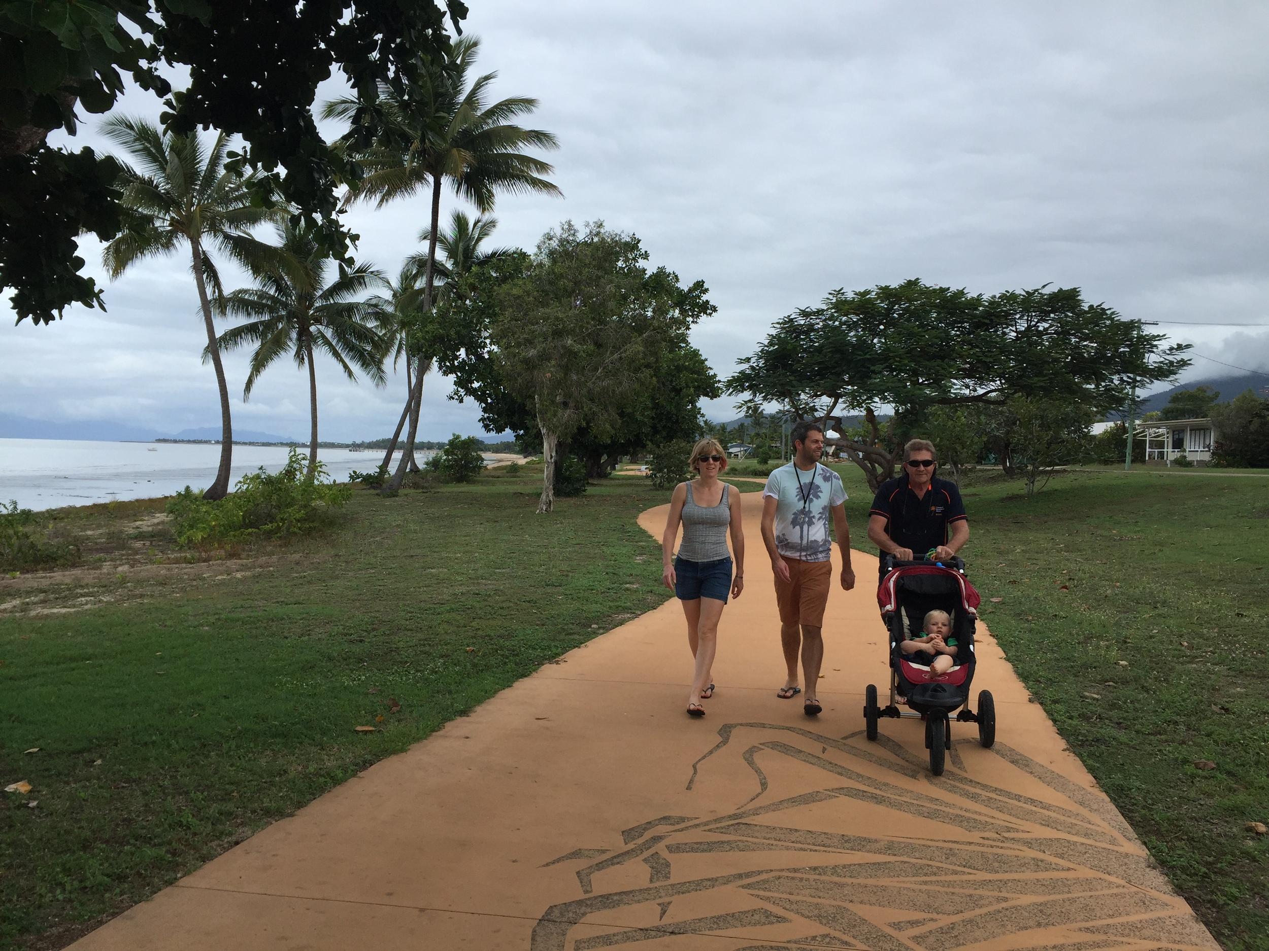 Cardwell Foreshore Pathway has playgrounds, BBQ's & Coral Sea Memorial Park