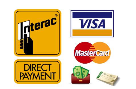 We Accept Debit, Visa, MasterCard, Cheque, Limited Cash