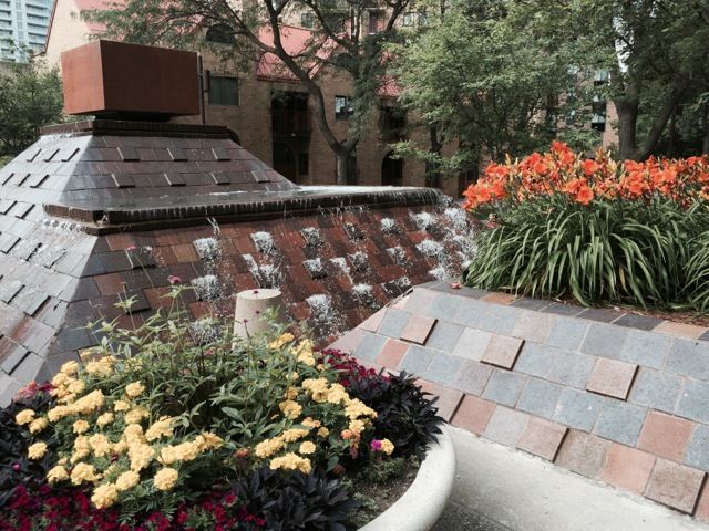 The refreshing fountains –and the glee of the children's voices and laughter...