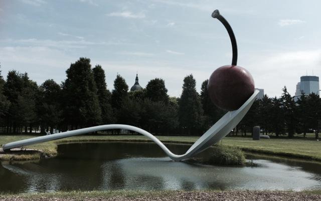 The sculpture garden...