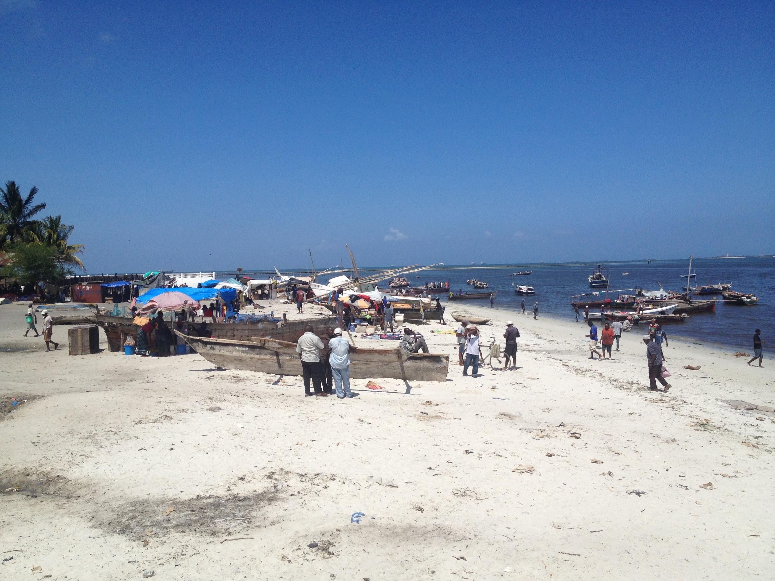 ... fishermen, boats, and nets ...