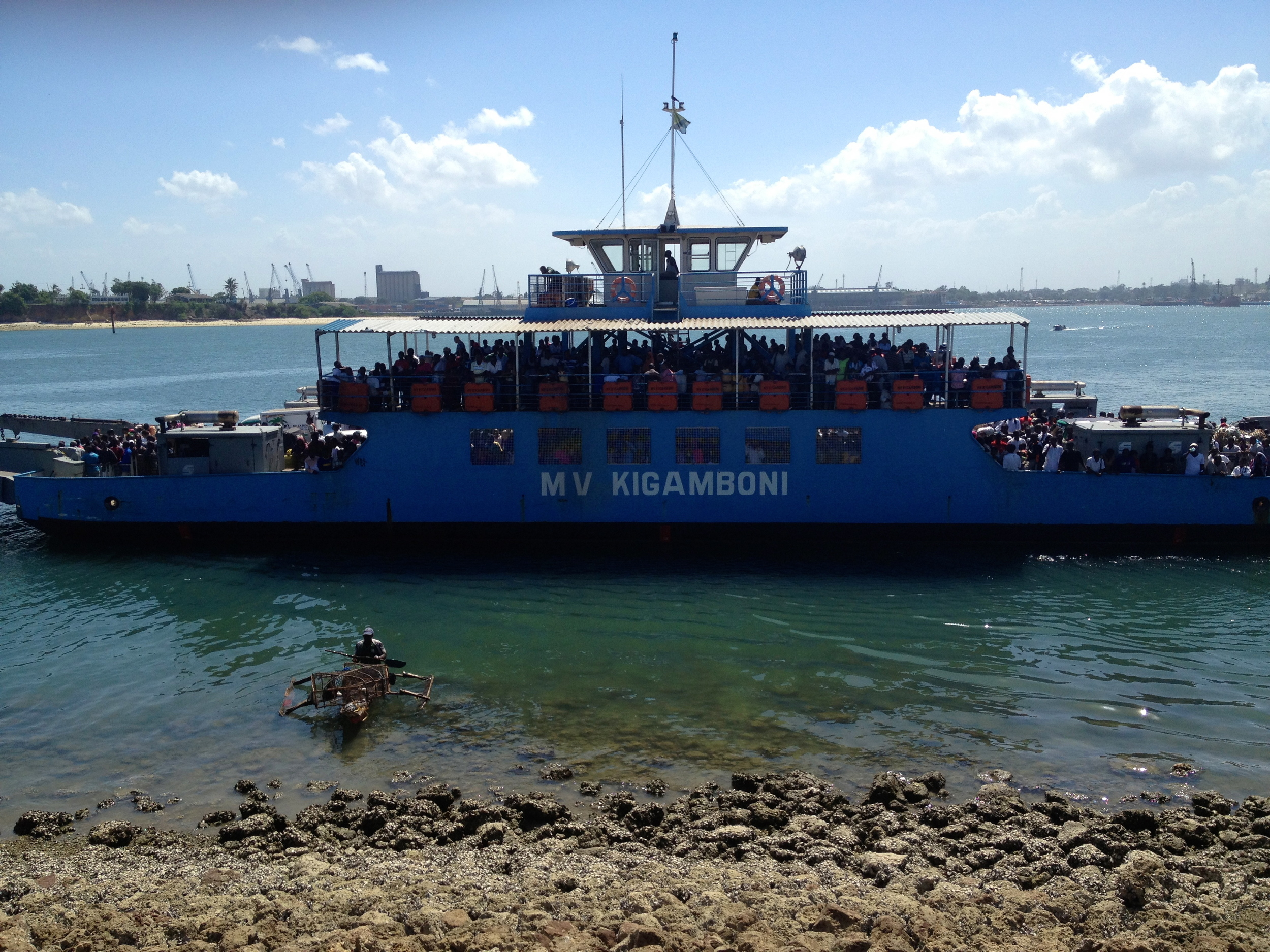 ... even the ferry is crowded   ...