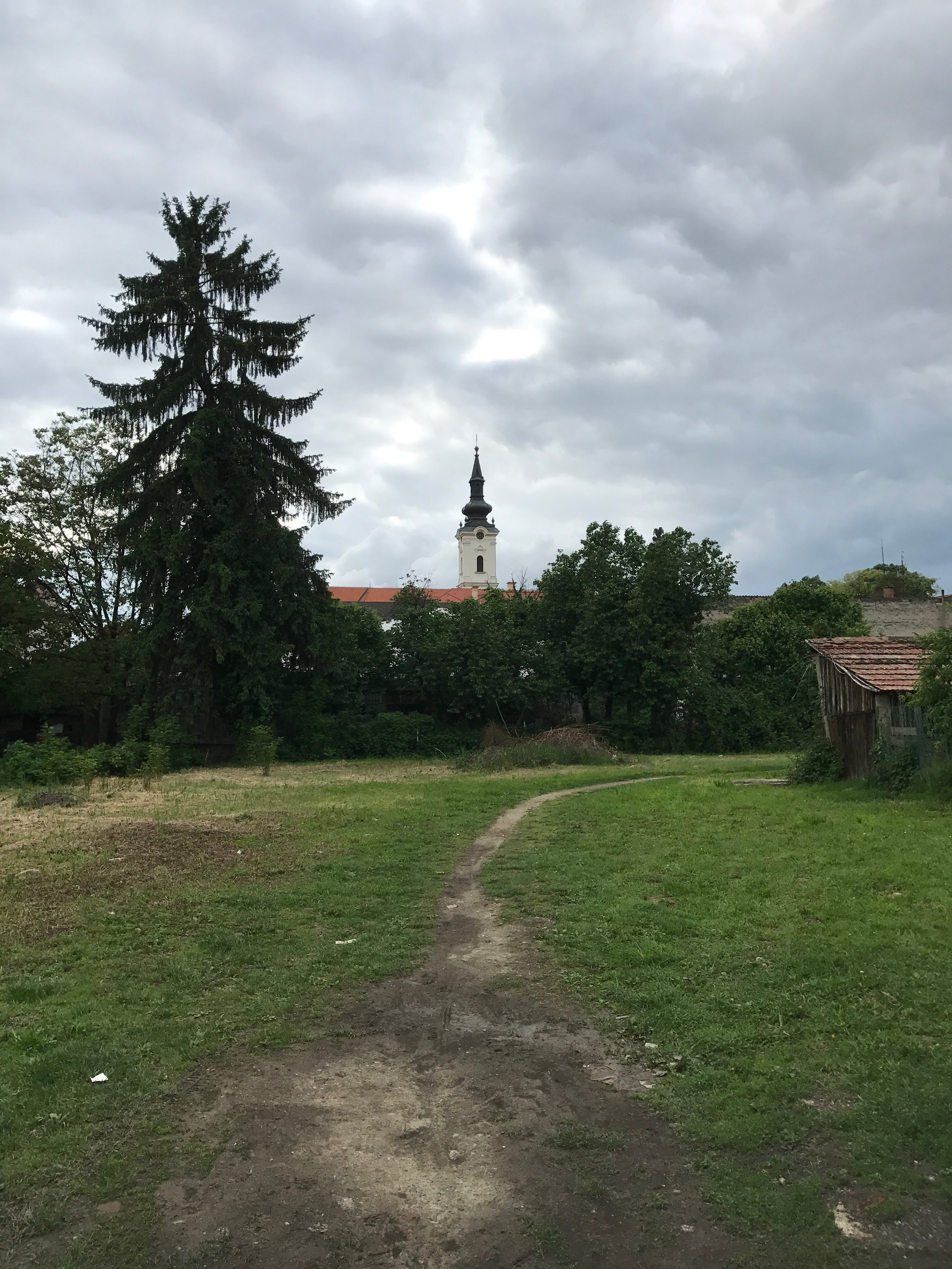 Another view of N.Gradiska church from in town