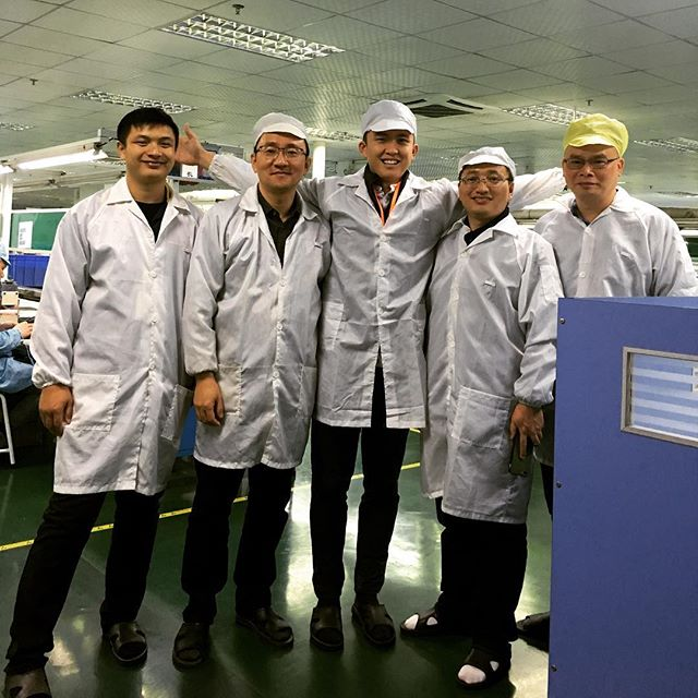 David + Andrew checking in on the progress of one of our client's projects at one of our partner Printed Circuit Board Assembly (PCBA) factories in Dongguan. Things are looking great! 👐🏽