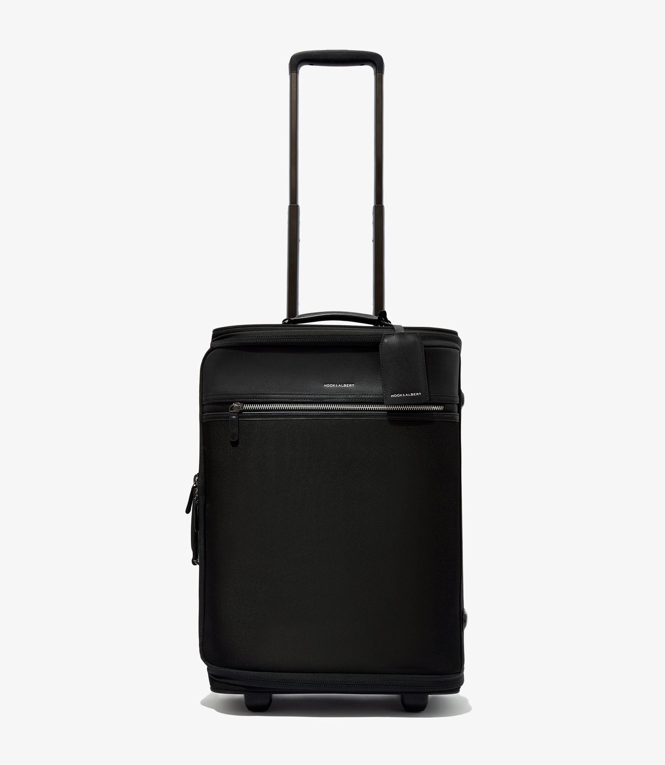 Soft Side Luggage - BLACK GARMENT LUGGAGE CARRY-ON by Hook & Albert