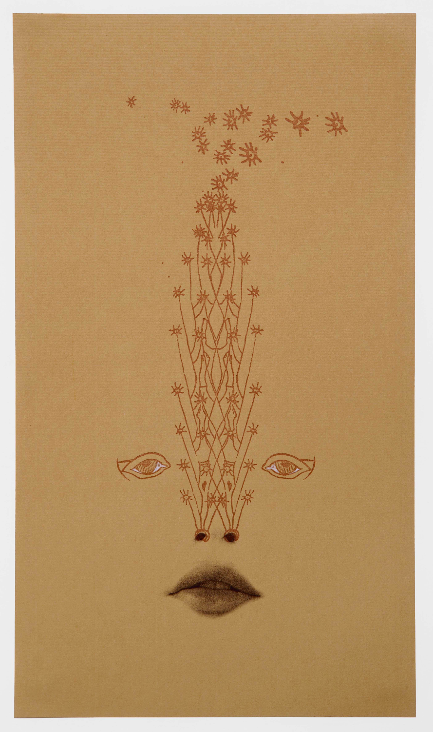 Stardust , 2010  Letterpress print on paper  12 x 7 inches