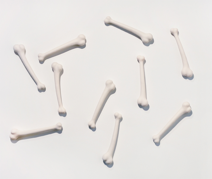 Yabba Dabba , 2010  Cast porcelain  Installation dimensions variable