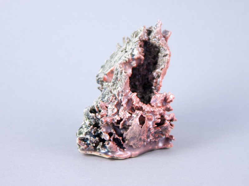Boonmee's Cave , 2012  Porcelain, glaze and acrylic paint  3.5 x 4 x 2.75 inches
