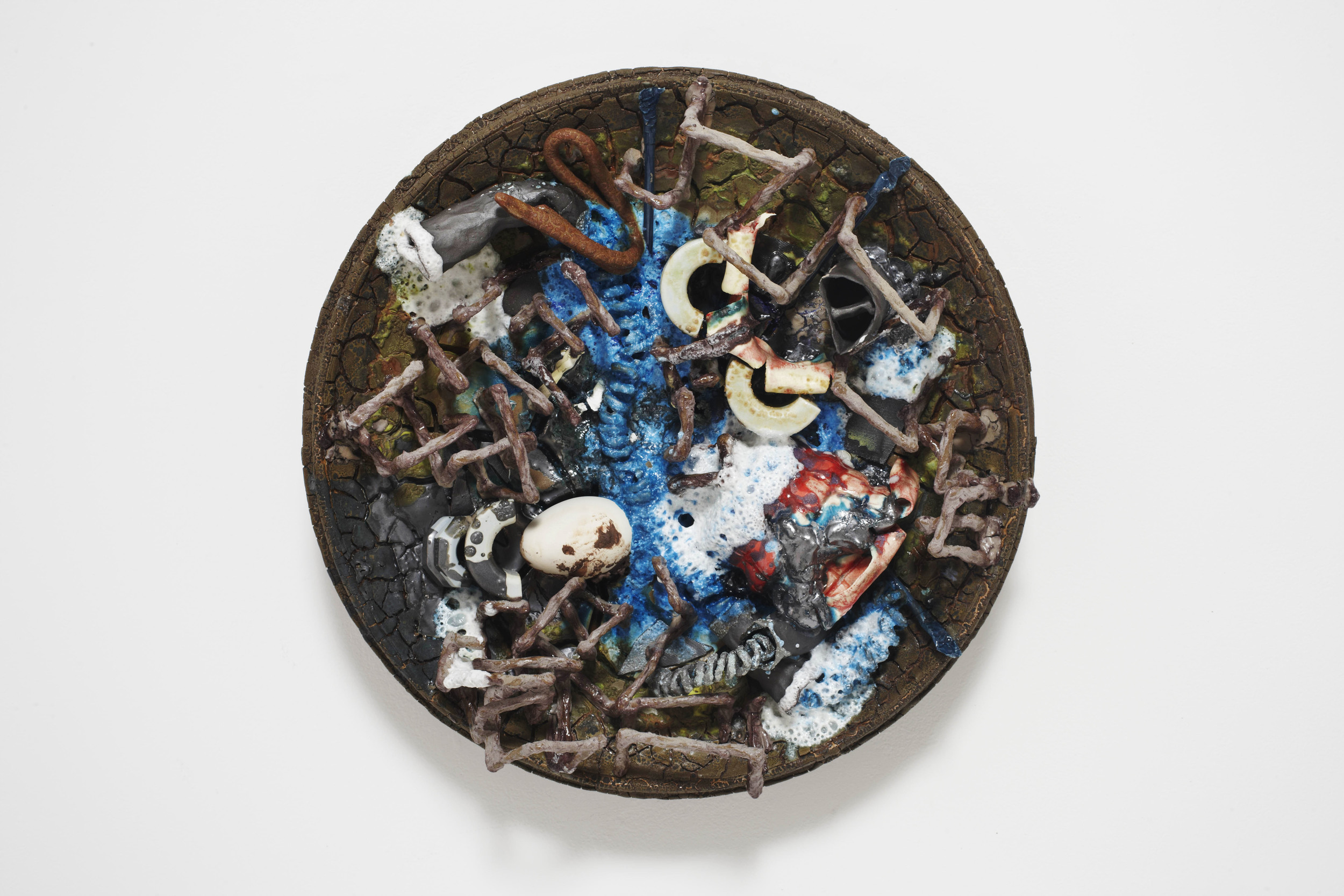 Paul Krause           Untitled (platter blue)  , 2012  Ceramic          25 x 25 x 6 inches