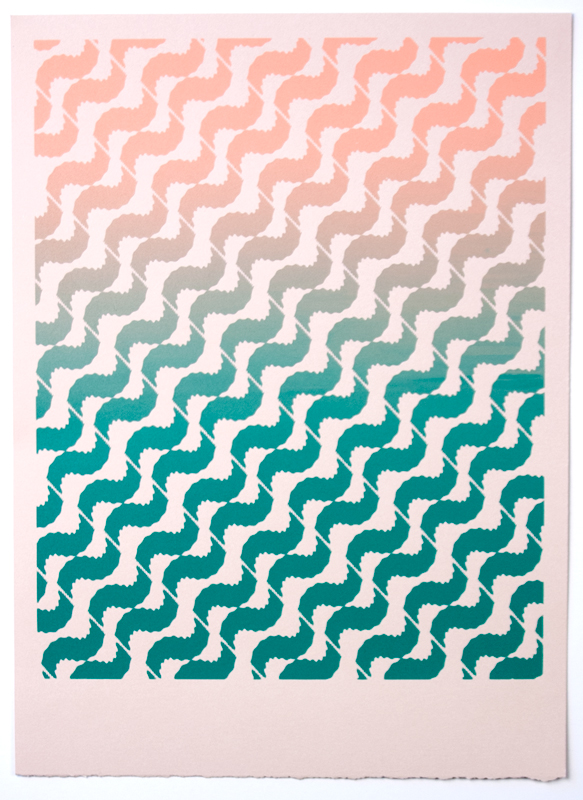 Tessellate (Southwest Dentist) , 2012  Silkscreen print on paper  12 x 9 inches