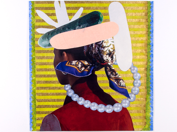 Jubilee , 2012  Collage and acrylic paint on paper  9.5 x 9 inches