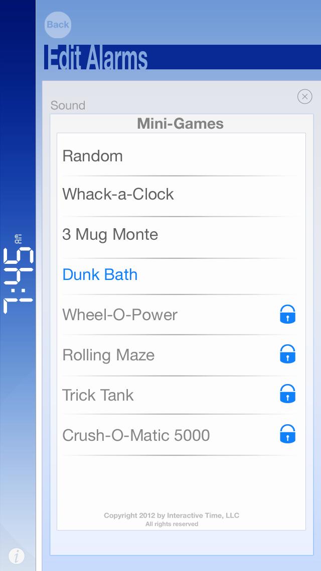 Bomax the Cranky Alarm UI