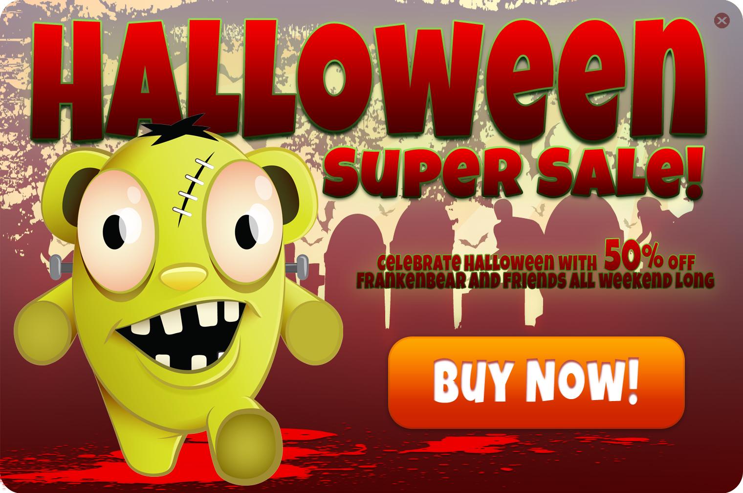 Halloween in app ad