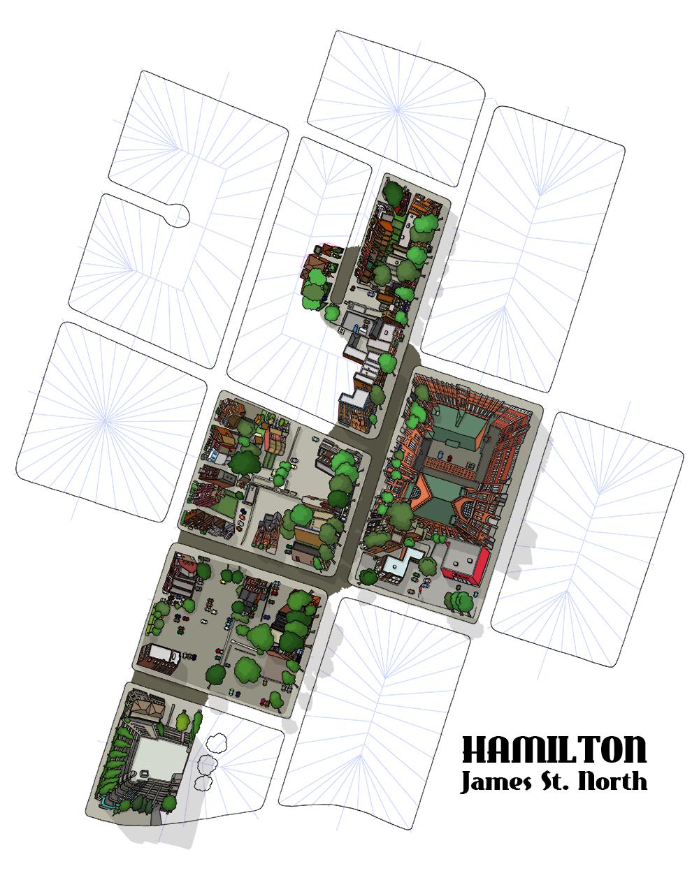 Hamilton James St North Map in Progress