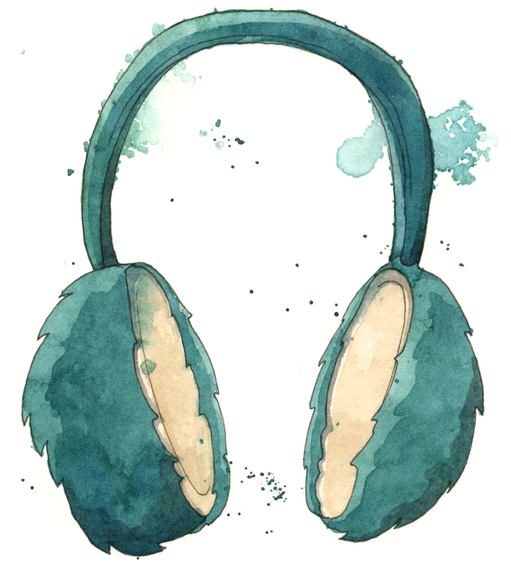 Earmuffs are the epitome of cozy and awesome.