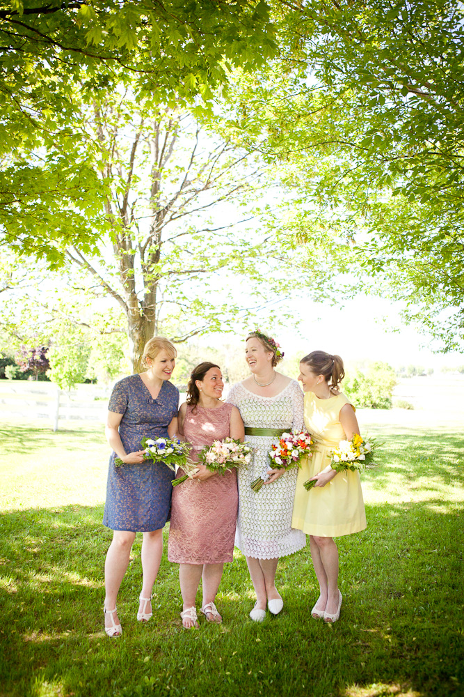 My awesome bridesmaids, in dresses they picked (that I love! They look so cute!)