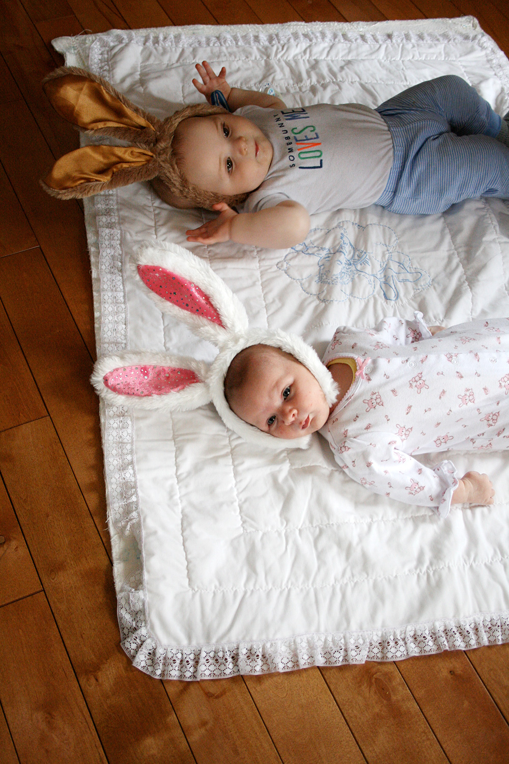 Molly and her cousin Jackson made some super cute Easter bunnies!
