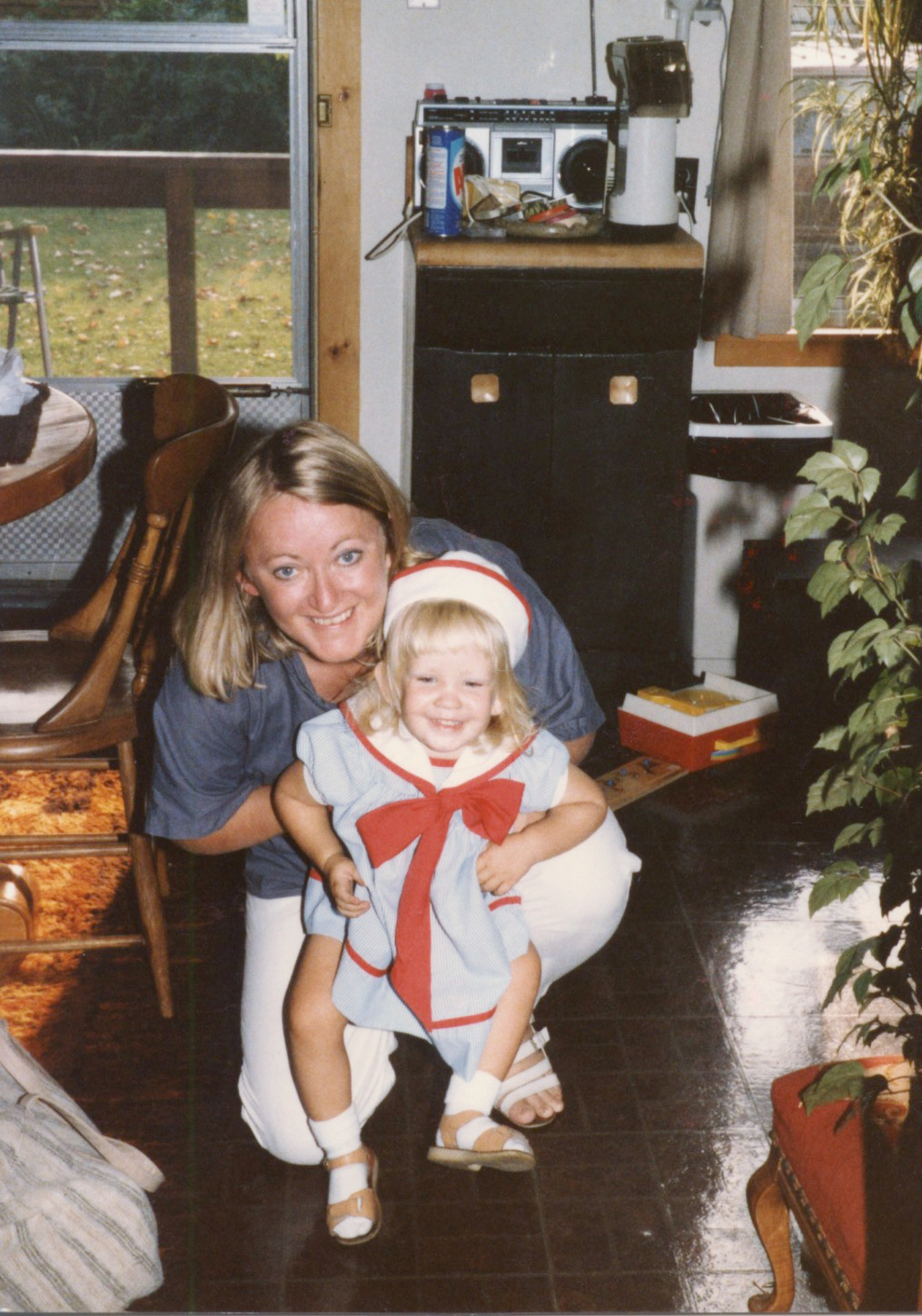 My mom and I in 1985