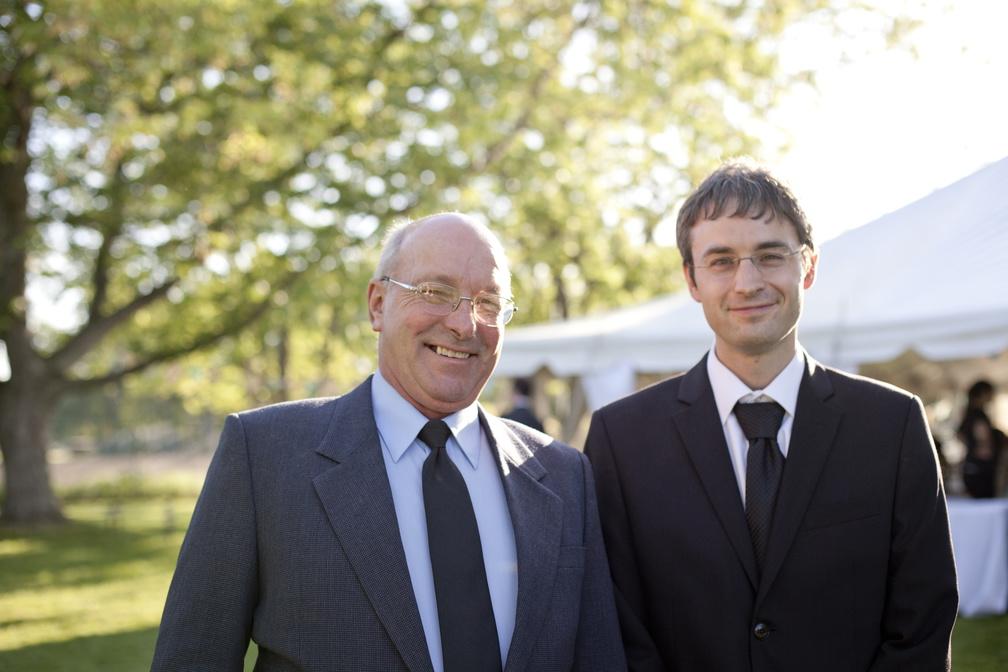 Jason and his dad on our wedding day - photo by  Michelle Yee .