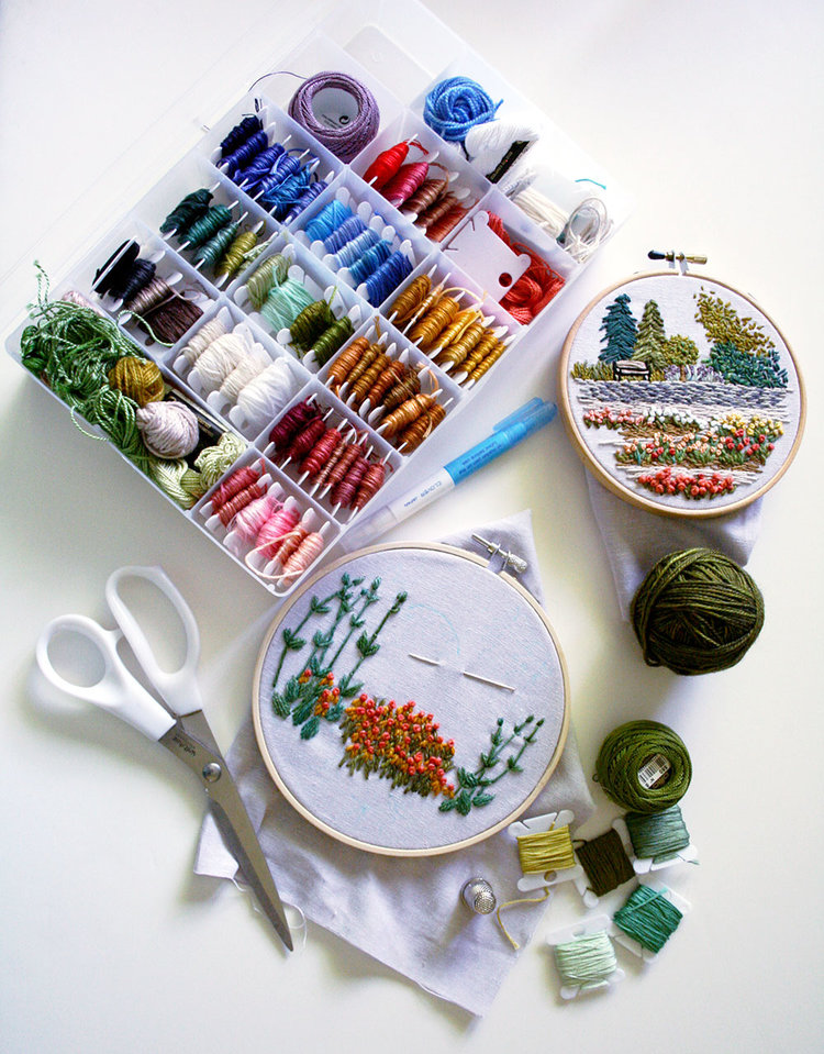 Tutorial: How to Embroider Your Own Freehand Landscape — Amanda