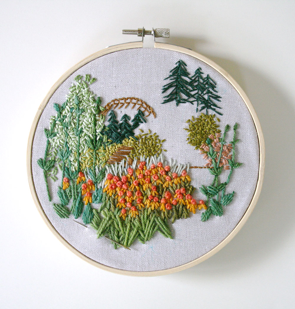 Tutorial: How to Embroider Your Own Freehand Landscape