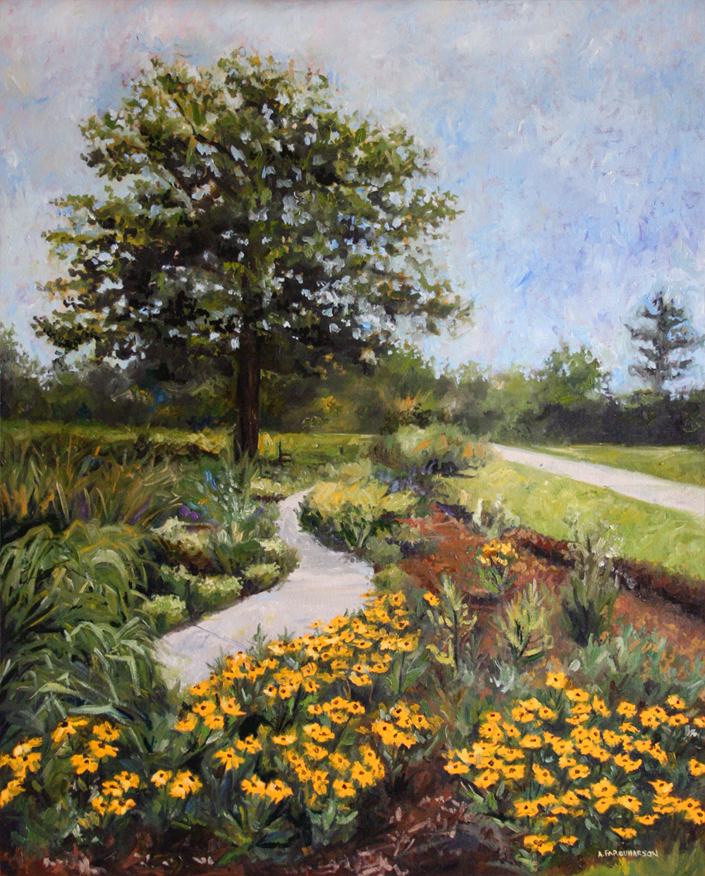 Tree and Black Eyed Susans by Amanda Farquharson Web.jpg